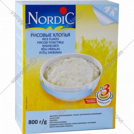 Хлопья «Nordik» рисовые, 800 г.