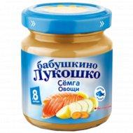 Пюре «Бабушкино Лукошко» рагу овощное с сёмгой, 100 г