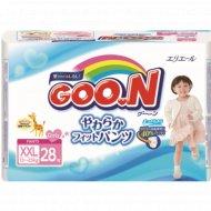 Подгузники-трусики «Goo.N» для девочек, 13-25 кг, 28 шт.