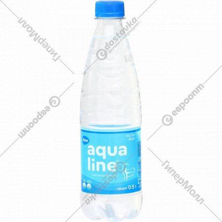 Вода питьевая «Aqualine» негазированная, 0.5 л.