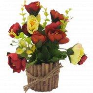 Цветы искусственные в горшке, L-642.