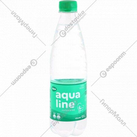 Вода питьевая «Aqualine» газированная, 0.5 л.