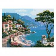 Живопись по номерам «Azart» Прибрежный город, на картоне, 30х40 см.