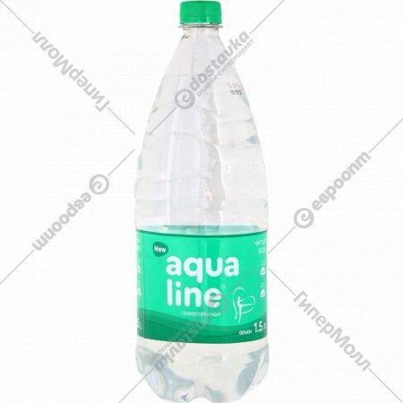 Вода питьевая «Aqualine» газированная, 1.5 л.