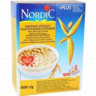 Овсяные хлопья «Nordic» с пшеничными отрубями, 600 г.