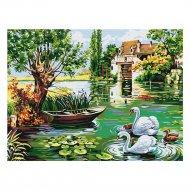 Живопись по номерам «Azart» Лебединый пруд, на картоне, 30х40 см.