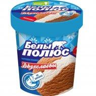 Мороженое двухслойное «Белый Полюс» аромат ванилина, шоколадное, 180 г