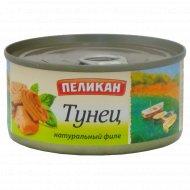 Консервы рыбные «Пеликан» Тунец, 185 г.