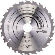 Диск пильный «Bosch» Speedline Wood, 2608640801, 190х30 мм
