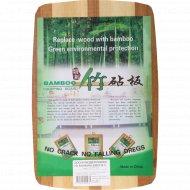 Доска разделочная из бамбука, 30х20х1 см.