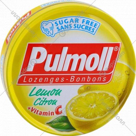 Карамель леденцовая «Pulmoll» лимон со стевией, без сахара, 45 г.