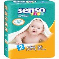 Подгузники «Senso» Baby Ecoline размер 2, 3-6 кг, 52 шт.