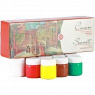 Краски гуашевые «Сонет» художественные, 12 цветов.