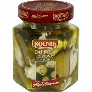 Перец зеленый «Rolnik» фаршированный с сыром, 280 г