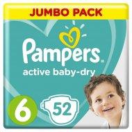 Подгузники «Pampers» active baby-dry 13-18 кг, 6, 52 шт.