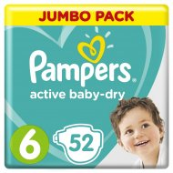 Подгузники «Pampers» active baby-dry 13-18 кг, 6, 52 шт.