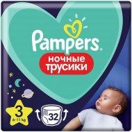Трусики-подгузники «Pampers» Night Pants, 6кг - 11кг, Размер 3, 32 шт