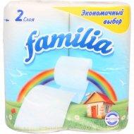 Туалетная бумага «Familia» радуга, двухслойная, 4 рулона.