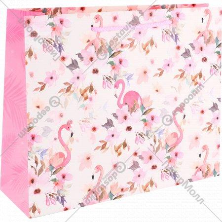 Пакет подарочный «Цветы» 32х26х12 см