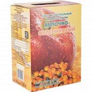 Сок натуральный «Яквил» яблочно-облепиховый, 3 л