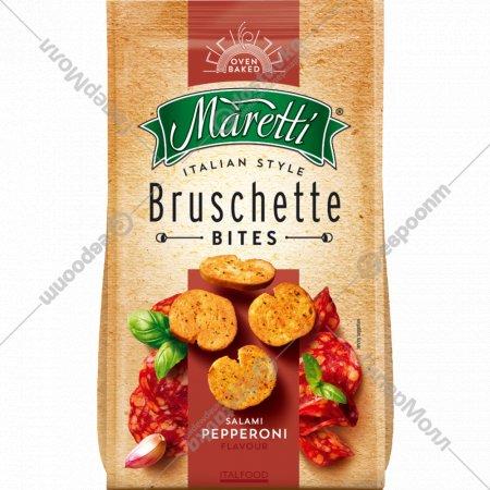Сухарики «Bruschette» колбаски пепперони, 70 г.