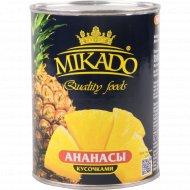 Ананасы «Mikado» кусочками, 580 мл.