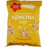 Чипсы кукурузно-рисовые «Happy Crisp» со вкусом сыра, 50 г.