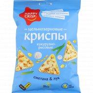 Чипсы кукурузно-рисовые «Happy Crisp» со вкусом сметаны и лука, 50 г.