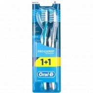 Зубная щетка «Oral-B» Pro-Expert» средняя жесткость, 1+1 шт.