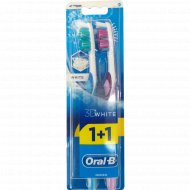 Зубная щетка «Оral-b» 3D white, 1+1.