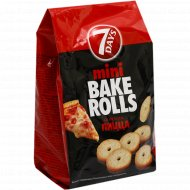 Мини сухарики пшеничные «Bake rolls» со вкусом пиццы, 80 г.
