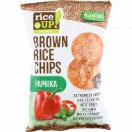 Цельнозерновые чипсы «Brown Rice Chips» со вкусом паприки, 60 г.