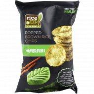 Цельнозерновые чипсы «Rice UP!» со вкусом васаби, 60 г.