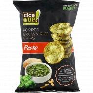 Цельнозерновые чипсы «Rice UP!» со вкусом песто, 60 г.