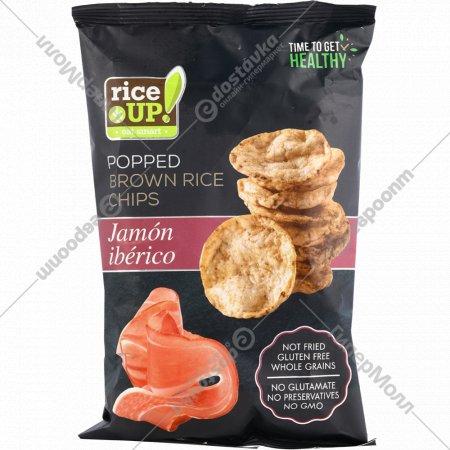 Цельнозерновые чипсы «Rice UP!» со вкусом Хамон Иберико, 60 г.