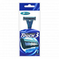 Бритва одноразовая DORCO Touch3 для чувствительной кожи 3 лезвия, 1шт.