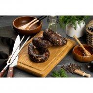 Колбаса вяленая из мяса лося с кедровым орехом, 200 г.