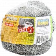 Скребок металический «Dompi» плетены, 3шт