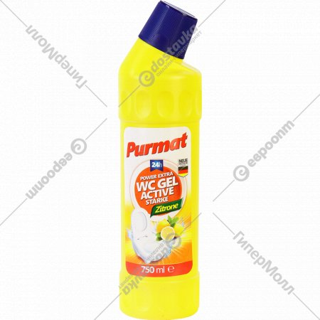 Гель «Purmat» чистящий, лимон, 750 мл.