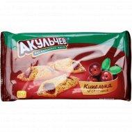 Печенье сдобное с фруктовой начинкой «Купелька» с брусникой, 225 г.