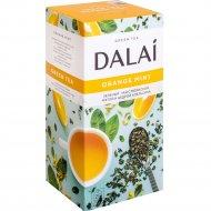 Чай зеленый «Dalai» мята, мелиса, цедра апельсина, лимон, 25 пакетиков.
