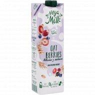 Напиток «Vega milk» овсяный с ягодами, 1.5%, 950 мл