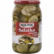 Салат шведский «Rolnik» из резаный огурцов, 850 г