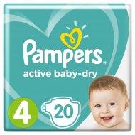 Подгузники «Pampers» Active Baby Dry, 8-14 кг, размер 4, 20 шт.