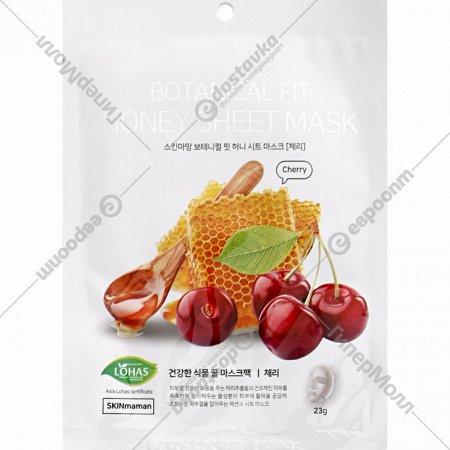 Маска для лица «Botanical Fit Honey» с экстрактом вишни и меда, 23 г.