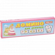 Игра настольная «Домино» для девочек, 00019.