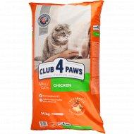 Сухой корм для взрослых кошек «Club 4 Paws» с курицей, 14 кг.