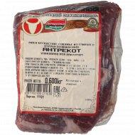 Мясо говяжье из спинного отруба «Антрекот» 1 кг., фасовка 0.49-0.7 кг