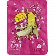 Маска для лица «NO:HJ» с экстрактом банана и муцином улитки, 25г.
