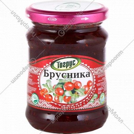 Ягода протертая с сахаром «Тогрус» брусника, 300 г.